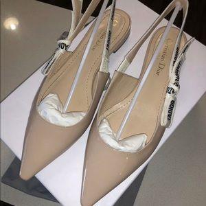 Dior J'Adior Nude Slingback Ballet Flats EU 39
